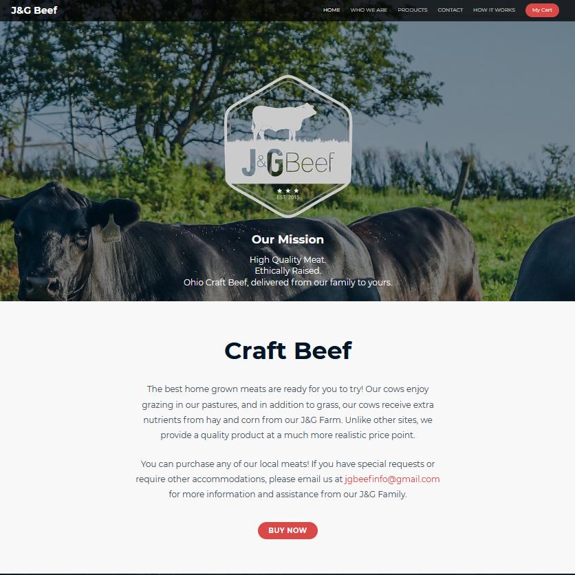 JG Beef website