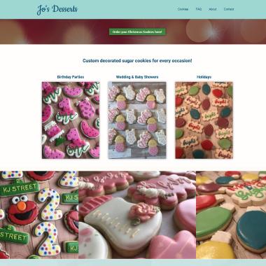 Jo's Desserts website
